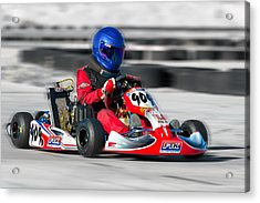 Racing Go Kart Acrylic Print by Gunter Nezhoda