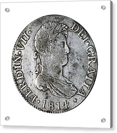 8 Reales Silver Coin From Ferdinand Acrylic Print by Everett