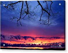 Red Sky At Morning Acrylic Print by Thomas R Fletcher