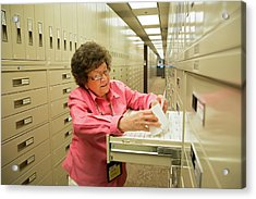 Salt Lake City Genealogical Research Acrylic Print