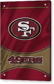 San Francisco 49ers Uniform Acrylic Print by Joe Hamilton