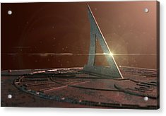 Sundial Lost In Time Acrylic Print by Allan Swart