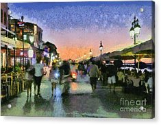 Sunset In Lefkada Town Acrylic Print