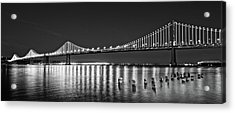 Suspension Bridge Over Pacific Ocean Acrylic Print by Panoramic Images