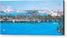 Sydney Harbour The Bridge And The Opera House By Jan Matson Acrylic Print