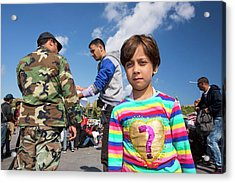 Syrian Refugees Acrylic Print