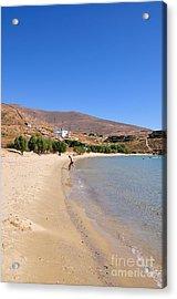 The Famous Psili Ammos Beach Acrylic Print by George Atsametakis