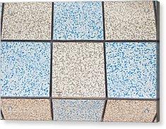 Tiles Acrylic Print by Tom Gowanlock