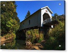 Usa, Oregon, Scio, Hoffman Bridge Acrylic Print