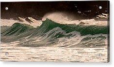 Waves Acrylic Print by Barbara Walsh
