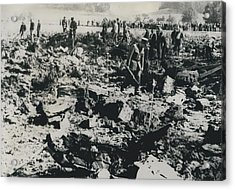 80 Die In A Plane Crash Near Zurich Acrylic Print by Retro Images Archive