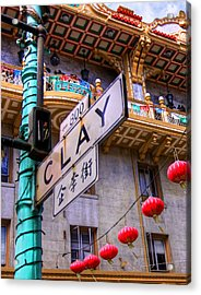 Acrylic Print featuring the photograph 800 Block Clay by Kandy Hurley