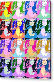 80's Daisy Pop Art Acrylic Print by J Anthony