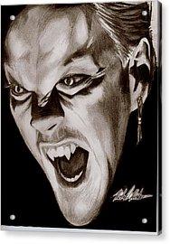 80's Vampire Acrylic Print by Michael Mestas