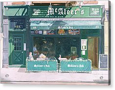 80th And Amsterdam Avenue Acrylic Print by Anthony Butera