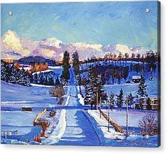 817 Canadian Winter Farm Acrylic Print by David Lloyd Glover