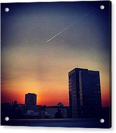 Colorful Sundown Duisburg Acrylic Print