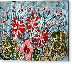 Mann Flowers Acrylic Print by Baljit Chadha