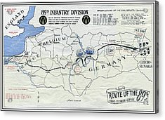89th Infantry Division World War I I Map Acrylic Print