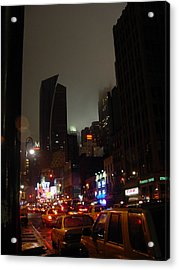 8th Ave Before New York Times Building Acrylic Print