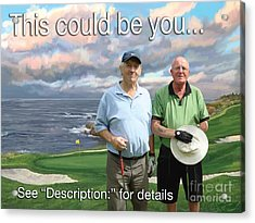 Acrylic Print featuring the painting 8th Hole Pebble Beach by Tim Gilliland