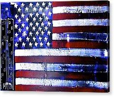 9-11 Flag Acrylic Print by Richard Sean Manning