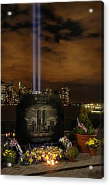 9-11 Monument Acrylic Print by Dave Mills