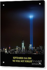 9/11 Tribute Acrylic Print by Nick Zelinsky