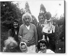 Albert Einstein Acrylic Print by Emilio Segre Visual Archives/american Institute Of Physics
