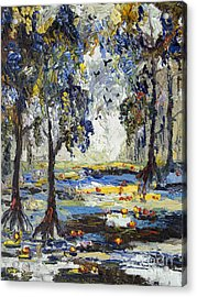 9 Am In The Okefenokee Georgia Acrylic Print by Ginette Callaway