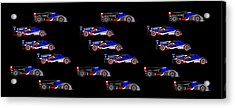 9 Audis And 9 Peugeots Acrylic Print by Asbjorn Lonvig