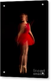 Ballet Dancer In Red Tutu Acrylic Print