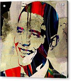 Barack Obama Acrylic Print by Marvin Blaine