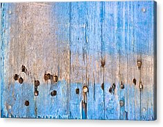 Blue Wood Acrylic Print