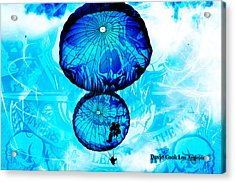 Dcla Designed Skull Gruntscape Acrylic Print by David Cook  Los Angeles Prints