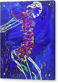 Dinka Dance - South Sudan Acrylic Print by Gloria Ssali