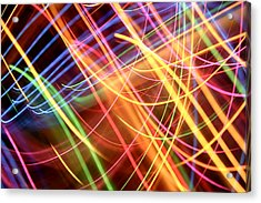 Energy Lines Acrylic Print by Les Cunliffe