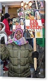 Flint Drinking Water Protest Acrylic Print