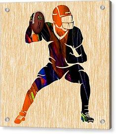 Football Acrylic Print by Marvin Blaine