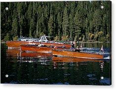Lake Tahoe Wooden Boats Acrylic Print by Steven Lapkin