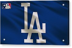 Los Angeles Dodgers Uniform Acrylic Print by Joe Hamilton
