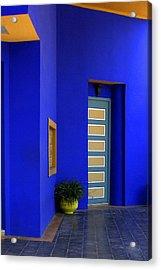 Majorelle Garden Marrakesh Morocco Acrylic Print by Ralph A  Ledergerber-Photography