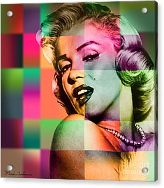 Marilyn Monroe Acrylic Print by Mark Ashkenazi