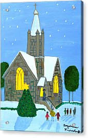 Acrylic Print featuring the painting Merry Christmas by Magdalena Frohnsdorff