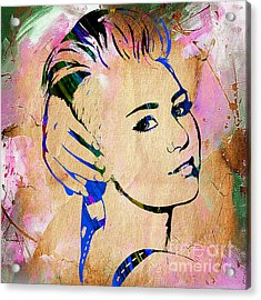 Miley Cyrus Collection Acrylic Print by Marvin Blaine