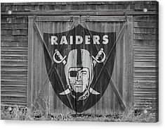 Oakland Raiders Acrylic Print by Joe Hamilton