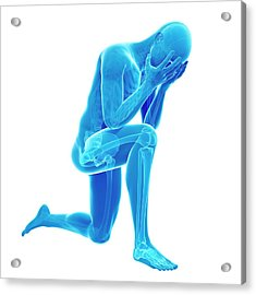 Person Kneeling Acrylic Print