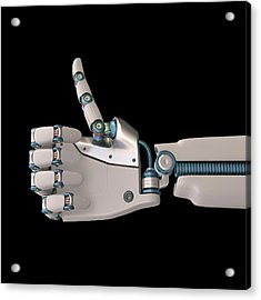 Robotic Hand Acrylic Print by Ktsdesign
