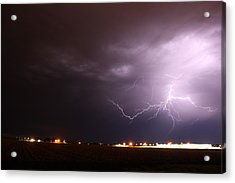 Acrylic Print featuring the photograph Round 2 More Late Night Servere Nebraska Storms by NebraskaSC
