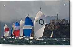 San Francisco Spinnakers Acrylic Print by Steven Lapkin